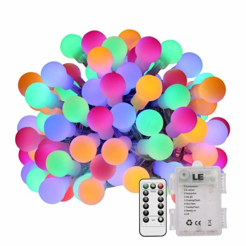Le 50 Led 5m Rgby Globe Fairy Lights Waterproof 8 Modes Starry Decorative Ball Battery Ed String For Outdoor Garden Wedding On