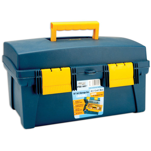 "Pro Art Storage Box W/Inner Tray-16""X8.9""X8.6"" Blue & Yellow"