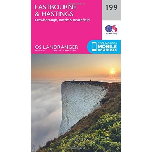 Landranger (199) Eastbourne & Hastings, Battle & Heathfield (OS Landranger Map)