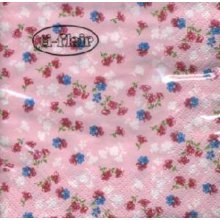Ti-Flair Pack of 20 Napkins / Serviettes - Millefleurs In Pink - 33cm x 33cm - 3ply