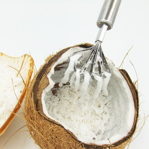 Kitchen Stainless Steel Fish Scraper Fish Scale Remover Fruits Coconut Shaver Shredder Seafood Fish