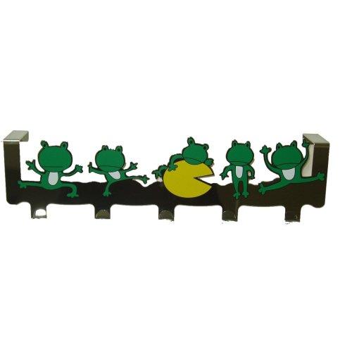 5 Chrome Plated Frog Hooks Over The Door Hooks Hangers