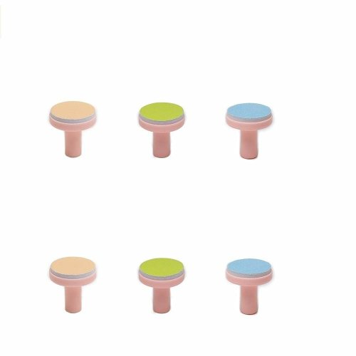 Replacement Pads for Electric Baby Nail Trimmer - Jaybva 6PCS Grinding Heads Polish Disc for Standard Nail File Clippers and Cutter Kit Pink