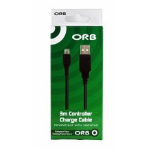 ORB 3m Controller Charge Cable compatible with Xbox One