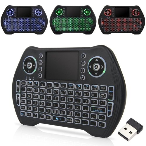 Zedo Backlit Mini Wireless Keyboard 2.4G, Handheld Remote with Touchpad Mouse for Android TV Box, Windows PC, HTPC, IPTV, Raspberry Pi, XBOX 360,... on ...