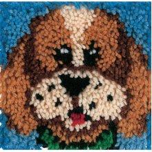 "Caron Wonderart Latch Hook Kit 8""X8""-Puppy"