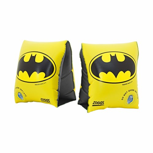 Zoggs Kids' DC Super Heroes Batman Inflatable Swimming Armbands, Black/Yellow, 2-6 Years