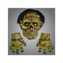 Scream Machine Frankenstein Rubber Mask With Hands