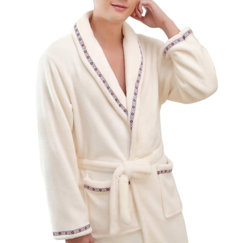 Casual Pajama Set Warm Sleepwear Men/Lovers Flannel Nightgown XX-large-A2