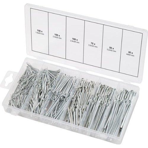 KS Tools 970.0080  Split pins assortment, 1.6x25.4mm-4.0x63.5mm, 555 pcs