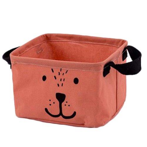 Desktop Organizer Bag Storage Box Folding Storage Basket #04