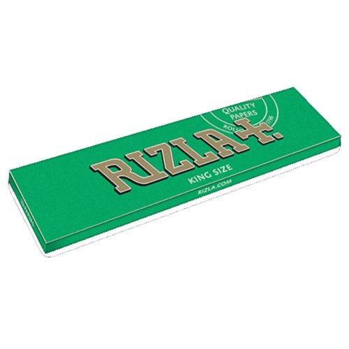 5 BOOKLETS RIZLA KING SIZE GREEN ROLLING PAPERS