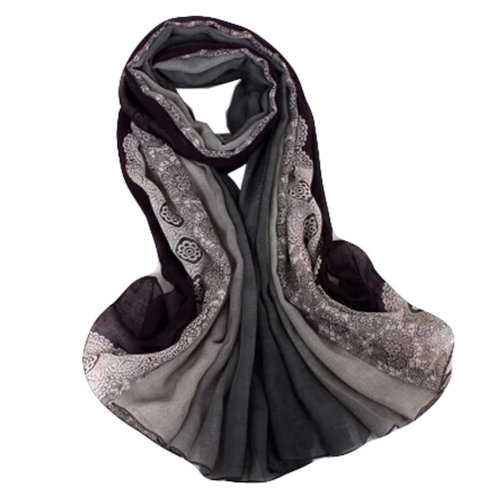 Fashion Scarves Winter Warm Cotton&Linen Scarf Infinity scarf,Dark Purple