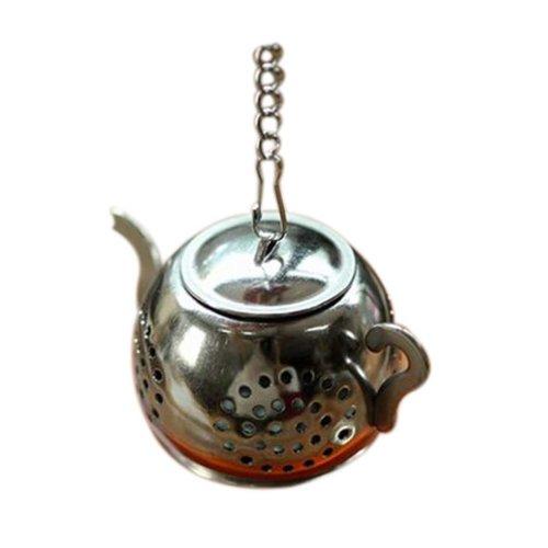 Set of 2 Portable Stainless-steel Tea Mesh Strainer/Tea Infuser(Circular Teapot)