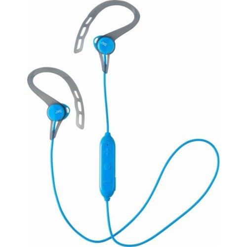 JVC HAEC20BTAE Sports Wireless Bluetooth In Ear Headphone with Ear Clip - Blue