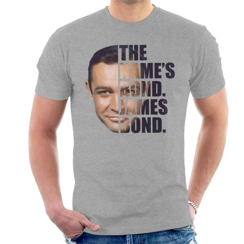 James Bond Half Head Text Men's T-Shirt