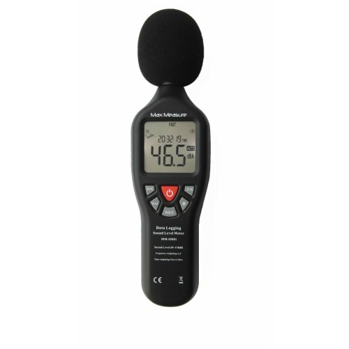 Digital Sound Level Decibel Meter 30-130dB Pressure Tester USB Auto Ranging with Internal Memory and Back Light