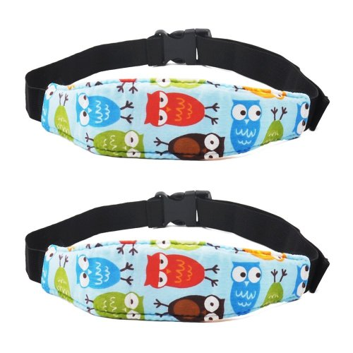 Baby Car Head Support, ASBYFR Safety Car Seat Neck Relief -2 Pack