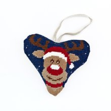 Rudolph Heart Christmas Decoration Tapestry Kit