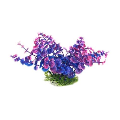 Set of 3 Emulational Plants Aquarium Decor Fish Tank Decoration,Dark Purple