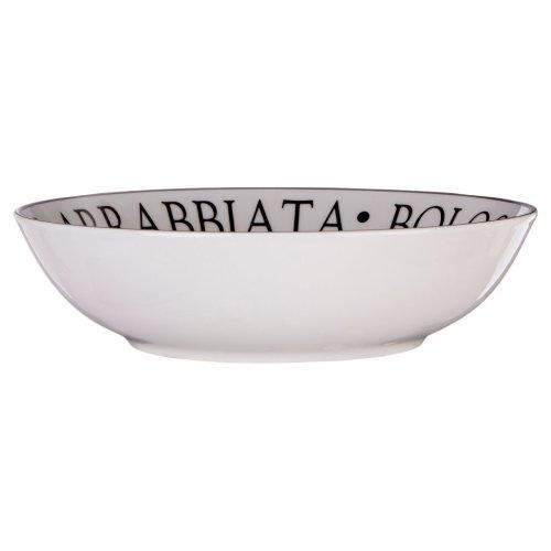 Noir Pasta Bowl, Porcelain, White