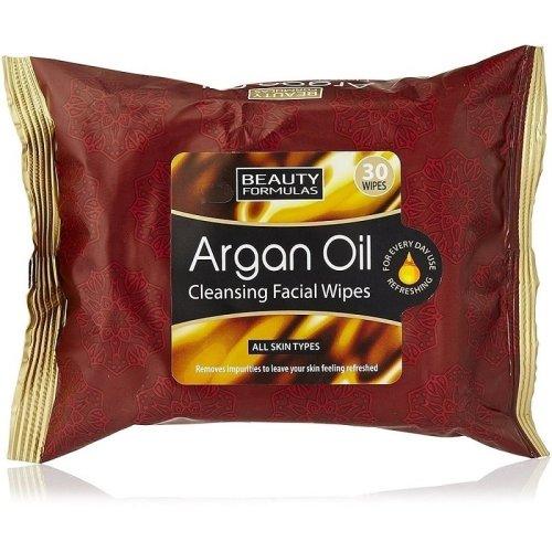 Beauty Formulas Argan Oil Cleansing Facial Wipes 30s