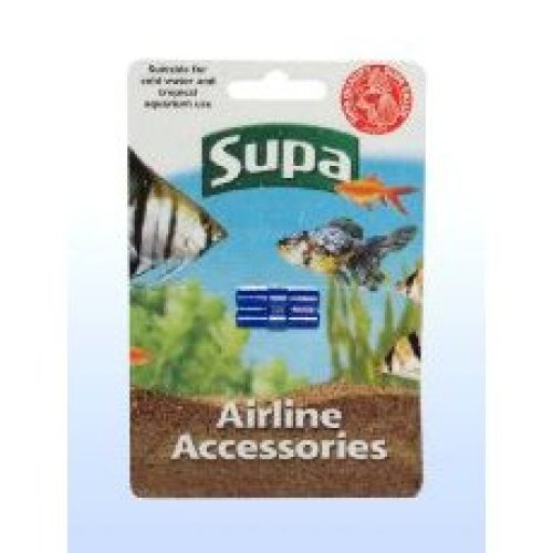Supa Airline Straight Connector Carded 2pack (Pack of 12)