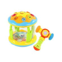 Musical Electric Baby Toys Hand Drum Instrument Percussion Set for Children, YellowOcean Drum+Hammer