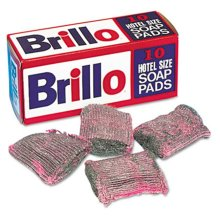 Brillo W240000 Steel Wool Soap Pad- 10/Box