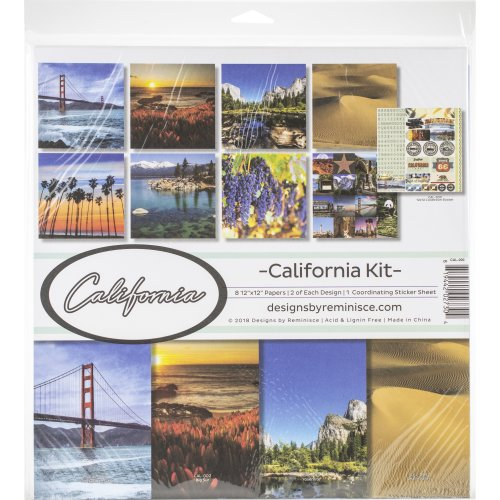 """Reminisce Collection Kit 12""""X12""""-California"""