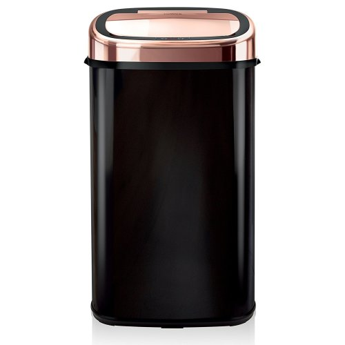 Black Rose Gold, 58L Tower Square Sensor Bin Infrared Technology, Stainless Steel,