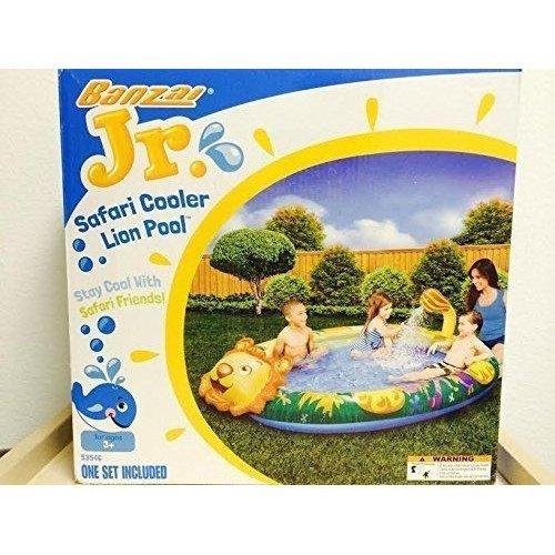 Banzai Jr. Safari Cooler Lion Pool Sprinkling Splash Summer Fun Ages 3+ Single Set