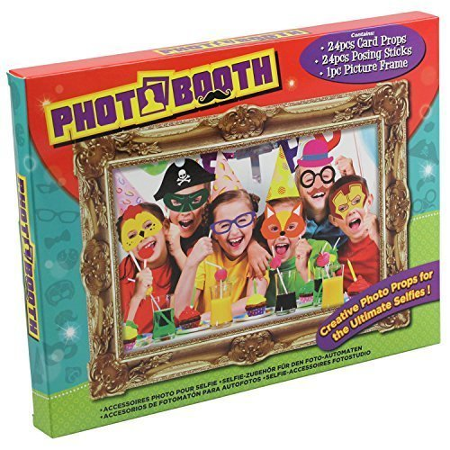 25pc Photo Booth Selfie Props W/picture Frame - Kids Party - Picture Childrens -  photo booth props frame selfie kids picture childrens party 25pc