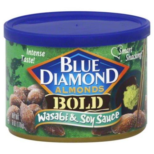BLUE DIAMOND ALMOND BOLD WASABI & SOY-6 OZ -Pack of 12