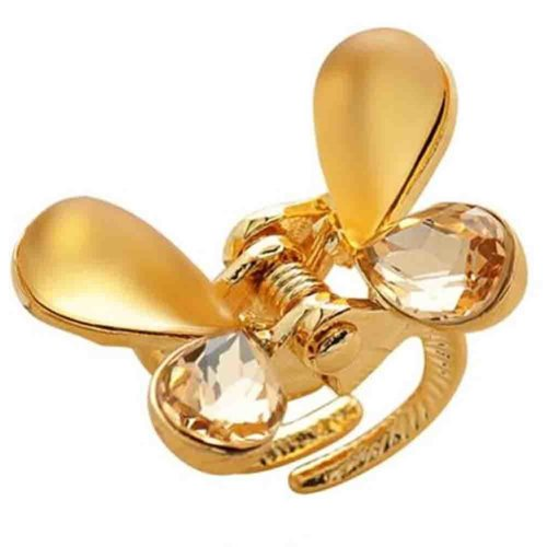 Butterfly Hair Claw Clip Diamond Hairpin Small Size Claw(Golden)
