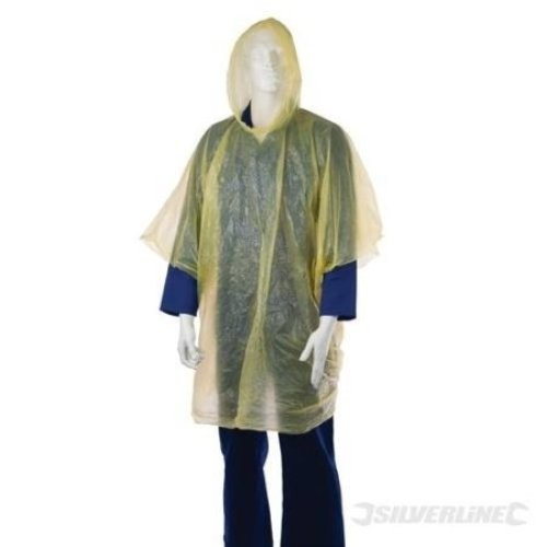 Silverline Waterproof Poncho - One Size 818597 Emergency -  poncho waterproof silverline one size 818597 emergency