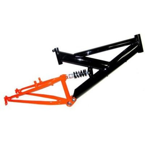 "24"" FULL SUSPENSION Bike Bicycle FRAME for size 15"" with 1"" Steerer BLACK & RED"