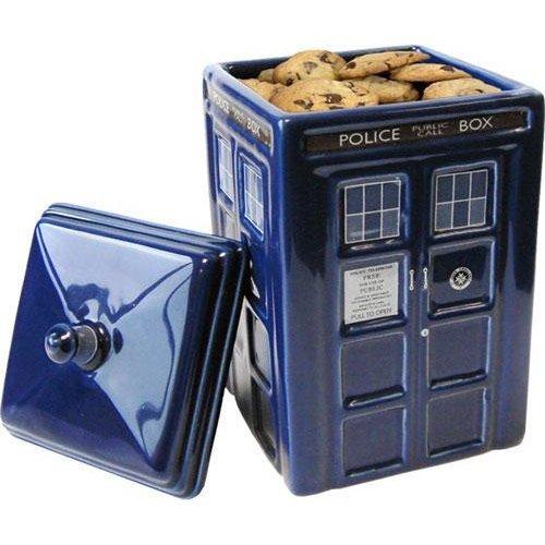 Dr Who Tardis Ceramic Cookie Jar