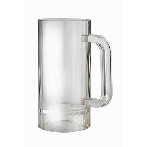Epicurean Single Acrylic Stein Beer Tankard, 450ml - Plastic Tankard Glass -  epicurean single acrylic plastic stein beer tankard glass 450ml break