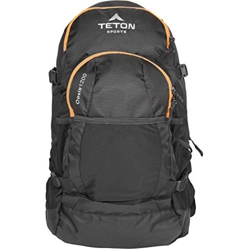 TETON Sports Oasis 1200 3 Liter Hydration Backpack Perfect for Biking Hiking Climbing and Hunting Black