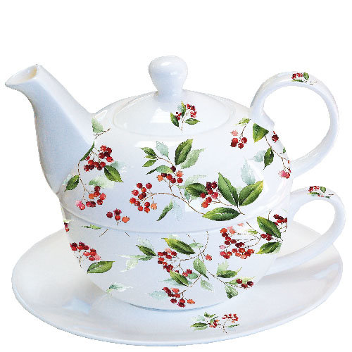 Ambiente Tea for One Set, Winter Foliage