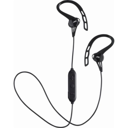 JVC HAEC20BTBE Sports Wireless Bluetooth In Ear Headphone with Ear Clip - Black