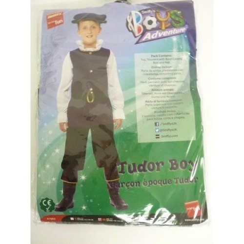 Large Royal Blue Boys Tudor Boy Costume -  costume tudor boy fancy dress book outfit boys childrens smiffys week medieval kids historical day top