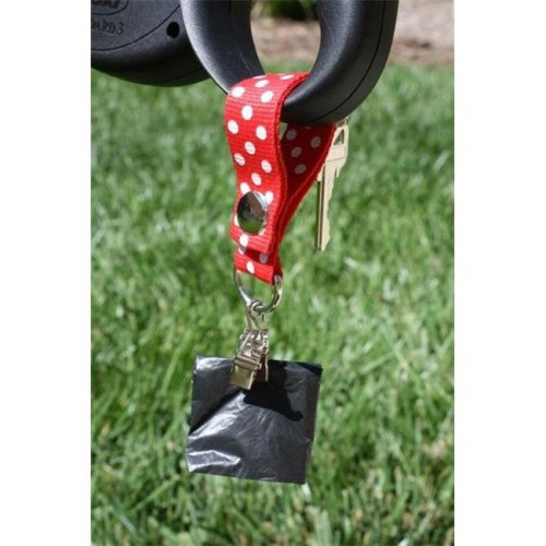 Poopy Carrier Classic Style Polka Dog Poop Bag Carry, Red
