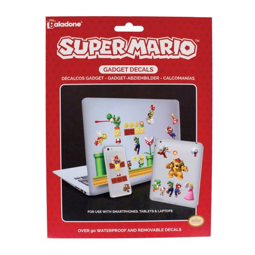 Super Mario Gadget Decals - Reusable & Waterproof Stickers