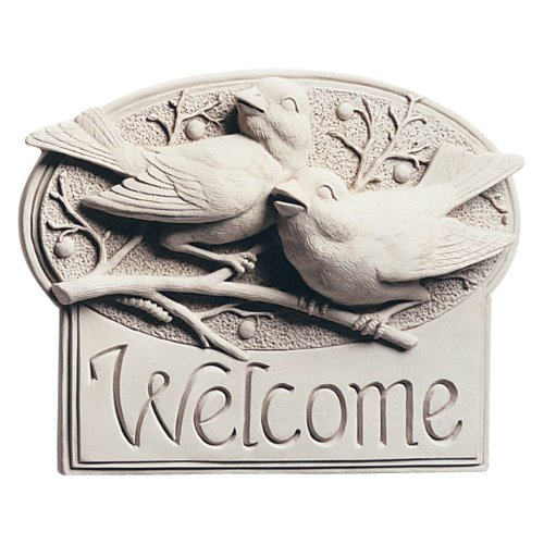 Welcome House Plaque Berry Birds By Carruth