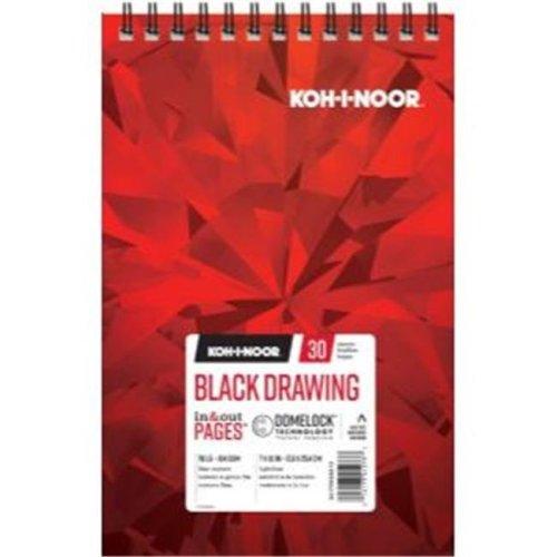 Koh - I - Noor K26170220612 7 x 10 in. Black Drawing Paper