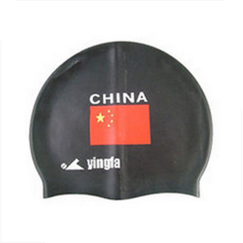 Pure Silicone Swimming Cap, Printed Swimming Cap, Flag Printed Cap, R