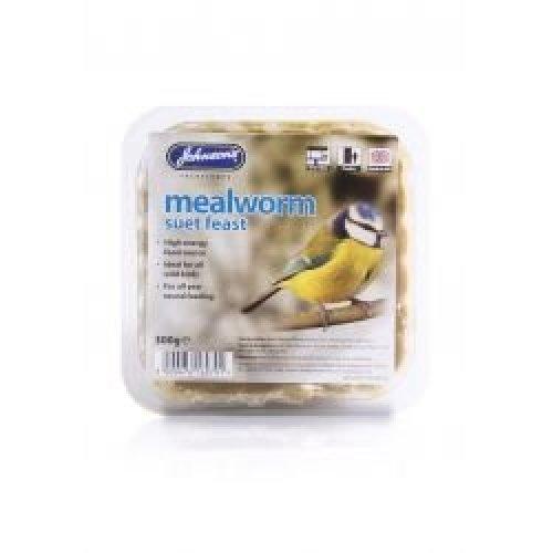 Johnson's Mealworm Suet Feast, 8 x 300g
