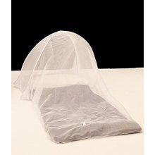 Pyramid Pop-Up Single Dome Mosquito Net - White